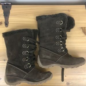 Sporto brown suede lace up boots, size 8.5M